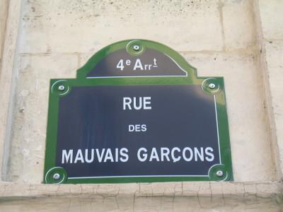 Le 4 me que j 39 aime rue des mauvais gar ons for Rue des garcons